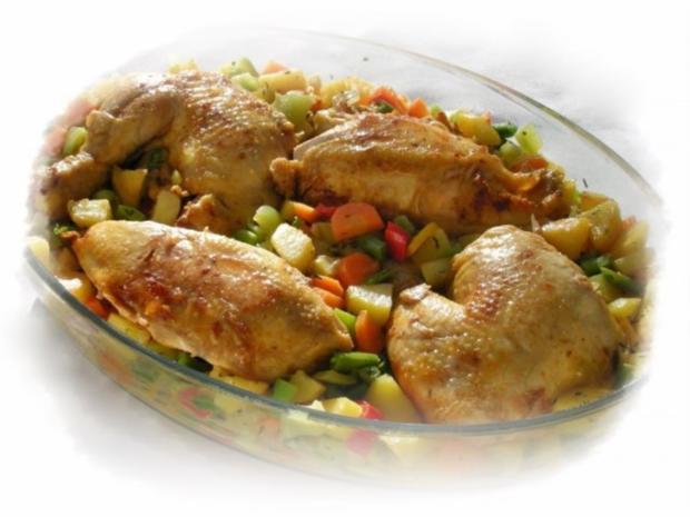 Bulgarisches Gratin  mit Hähnchenfleisch und Gemüse - Rezept - Bild Nr. 11