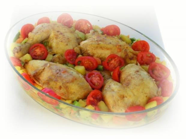Bulgarisches Gratin  mit Hähnchenfleisch und Gemüse - Rezept - Bild Nr. 12