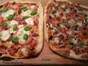 Pizza Margherita und Pizza Regina - Rezept