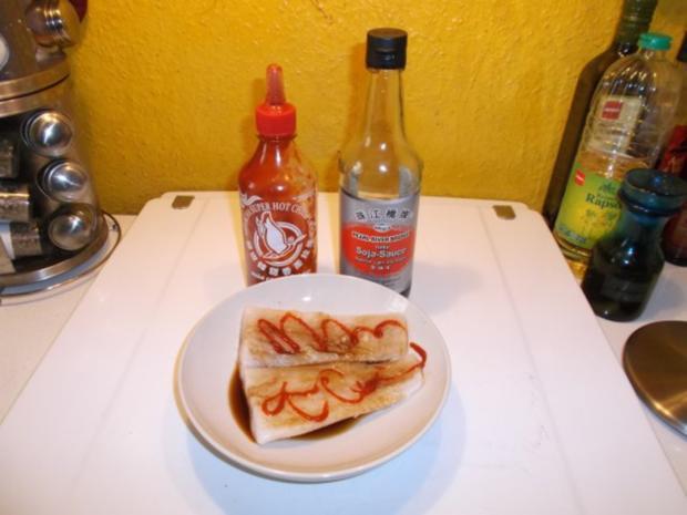 Fisch: Pikanter Kabeljau mit Chakalaka-Kartoffelspalten - Rezept - Bild Nr. 3