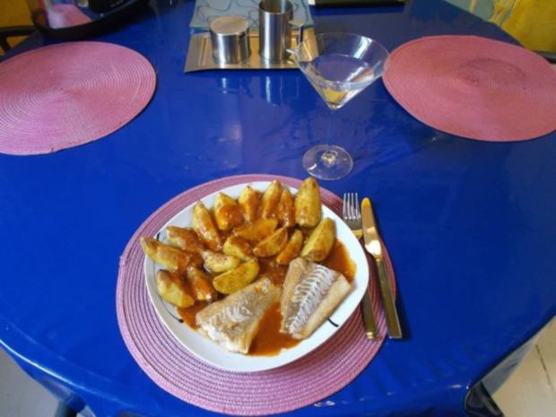 Fisch: Pikanter Kabeljau mit Chakalaka-Kartoffelspalten - Rezept - Bild Nr. 12