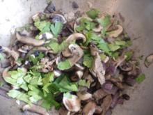 Champignons mit Rinderminutensteak - Streifen - Rezept