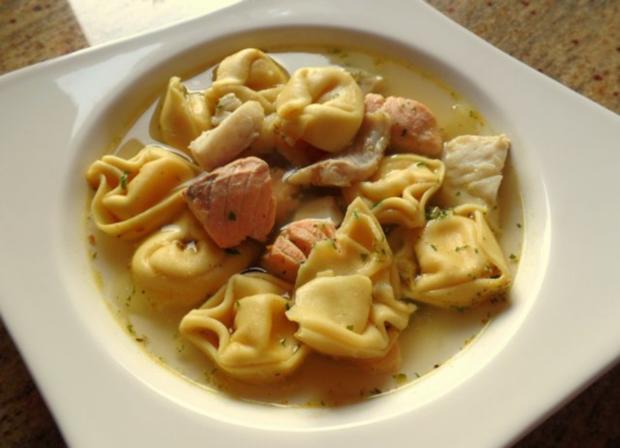 Fisch-Tortellini-Suppe - Rezept