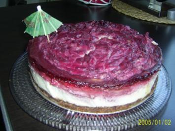 Kuchen: Himbeer-Käsekuchen - Rezept