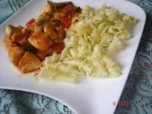 Toskanisches Hähnchenragout mit Parmesannudeln - Rezept