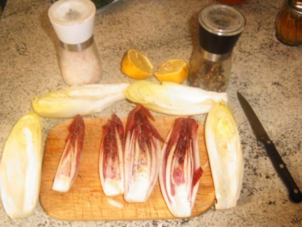 Chicoree gefüllt mit Crevetten und Spinat - Rezept - Bild Nr. 4