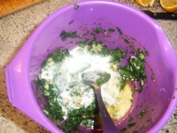 Chicoree gefüllt mit Crevetten und Spinat - Rezept - Bild Nr. 6