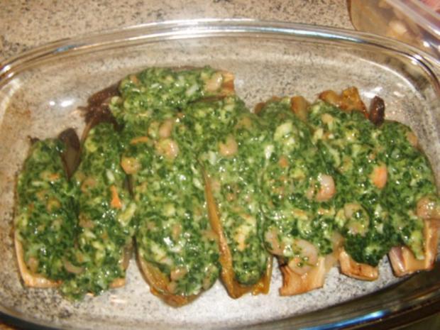 Chicoree gefüllt mit Crevetten und Spinat - Rezept - Bild Nr. 7