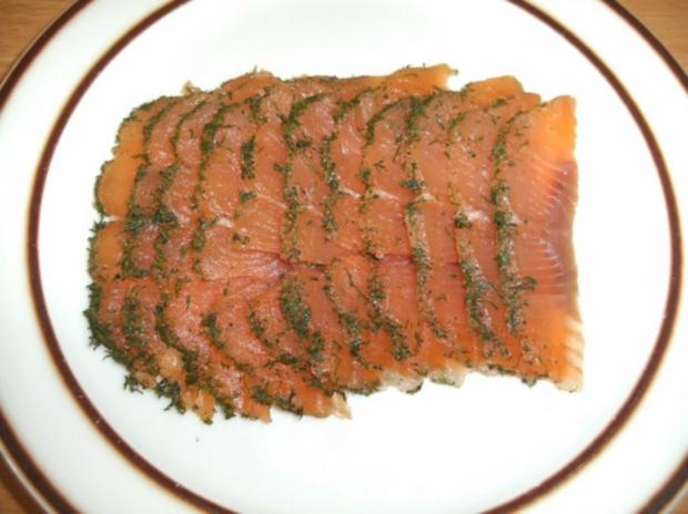 Fisch: Graved Lachs - Version 1 - Rezept