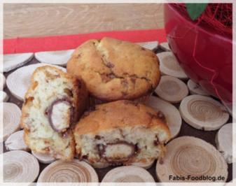 Kinder Riegel Muffin mit Schokobon Überraschung - Rezept