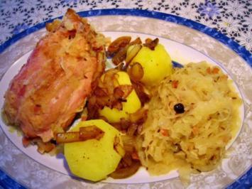 Haxe auf Sauerkraut ... - Rezept