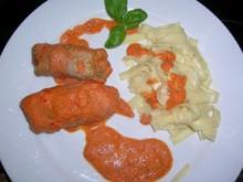 Fleischröllchen (Involtini) aus Schweinefilet, gratiniert - Rezept