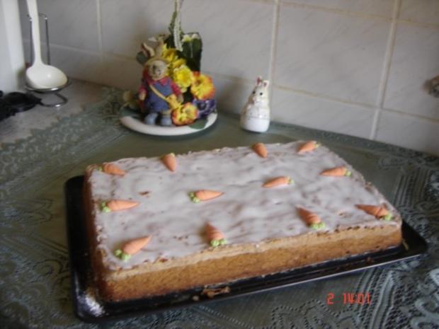 Möhren-Mandel-Blechkuchen - Rezept