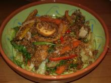 Veggi -Hirse-Gemüsepfanne mit Quorn - Rezept
