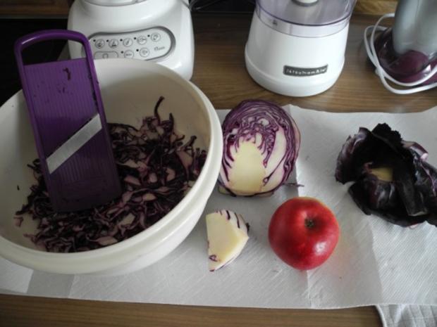Vegan : Rotkohl - Rohkost - Salat - Rezept