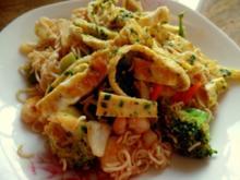 Asia-Nudel-Garnelen-Omelett-Wok - Rezept