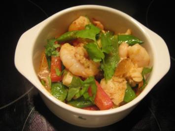thailändisches Fischcurry mit Garnelen - Rezept