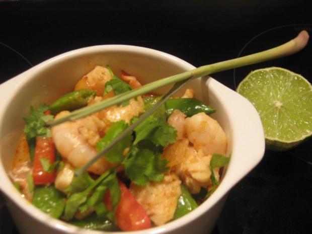 thailändisches Fischcurry mit Garnelen - Rezept - Bild Nr. 2