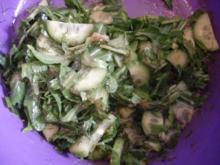Gurkensalat mit Rucola - Rezept