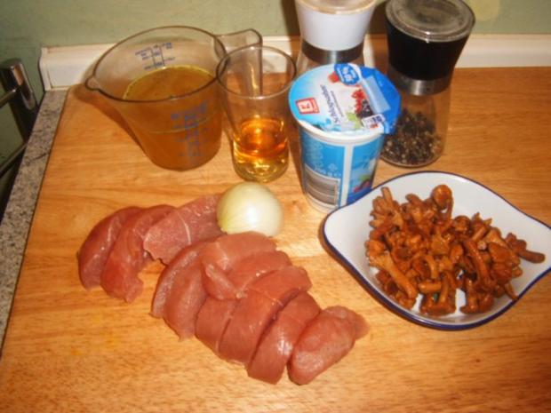 Putensteaks in einer Pfifferling-Whiskysoße - Rezept - Bild Nr. 2
