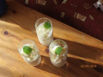 Apfeldessert mit Sahne - Rezept