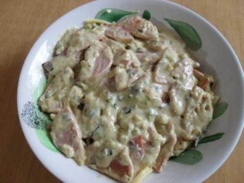Rezept: Wurstpfanne mit Schmand-Senfsoße