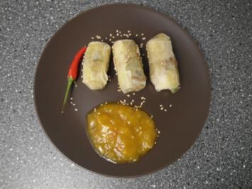 Loempias an Mango Chutney - Rezept