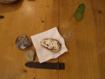 Geröstetes Brot mit Ziegenkäse-Crème - Rezept