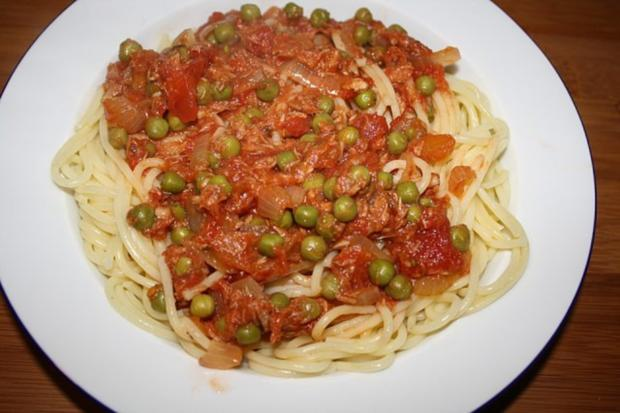 Teichmann's Spaghetti mit Thunfischsoße - Rezept