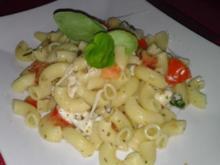 Schnelle Tomaten Mozzarella Pasta - Rezept