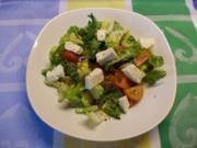 Tomaten-Sellerie-Romana-Salat mit Datteln und Mozarella - Rezept