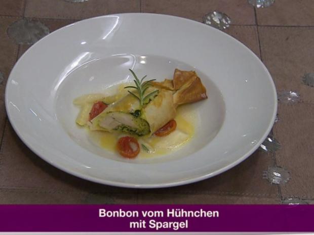 Bonbon vom Hühnchen mit Spargel (Jochen Bendel) - Rezept