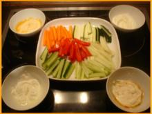 Gemüsesticks mit Dips - Rezept