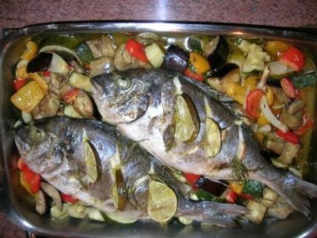 Brassen an Ofengemüse - Rezept - Bild Nr. 3