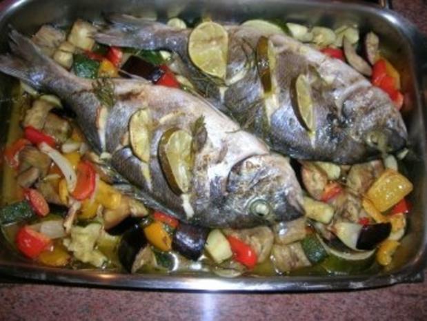 Brassen an Ofengemüse - Rezept