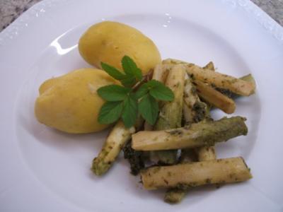 Gemüse: Gebratener Spargel mit Neuen Kartoffeln - Rezept