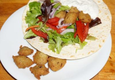 Hirse Falafel mit leckerer Joghurtsauce - Rezept