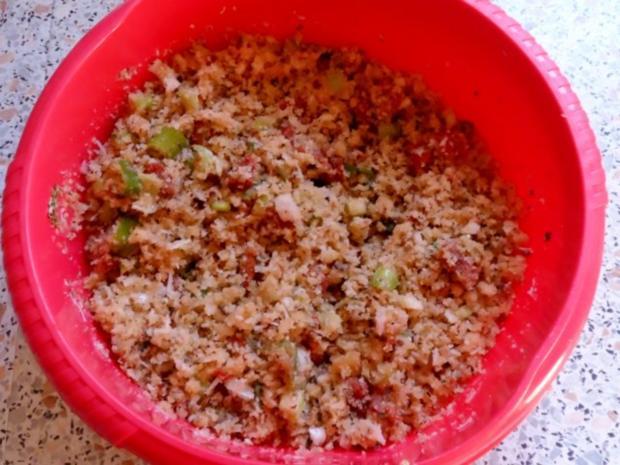 Nudeln/Pasta: Spirelli in Tomaten-Speck-Soße überbacken mit Knusper-Parmesan-Streuseln - Rezept - Bild Nr. 10