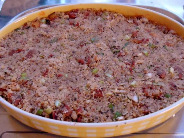 Nudeln/Pasta: Spirelli in Tomaten-Speck-Soße überbacken mit Knusper-Parmesan-Streuseln - Rezept - Bild Nr. 13