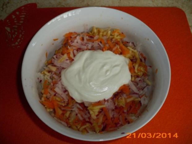 Möhrensalat und verschiedenes Gemüse - Rezept - Bild Nr. 2