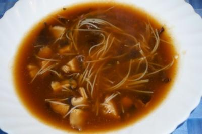 Two Funghi Soup - Dry Version - Rezept
