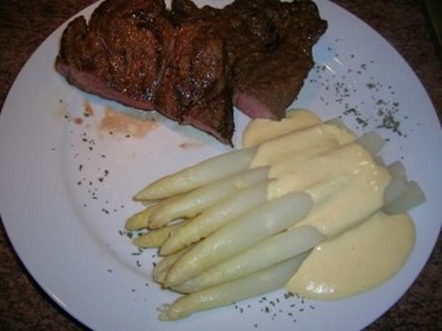 Chuck Eye Steak die 2te Variante, eingelegt und nur mit Spargel - Rezept - Bild Nr. 4
