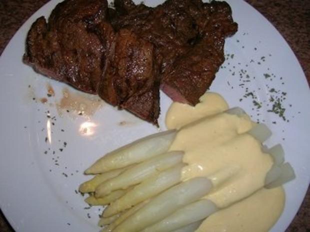 Chuck Eye Steak die 2te Variante, eingelegt und nur mit Spargel - Rezept - Bild Nr. 5