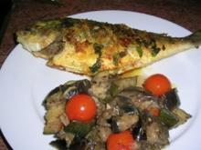 Dorade/Brasse die 2te Variante mit mediterranem Gemüse - Rezept