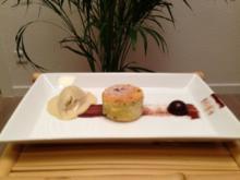 Schokoladen-Lavendel-Brownie mit Kürbiskerneis - Rezept