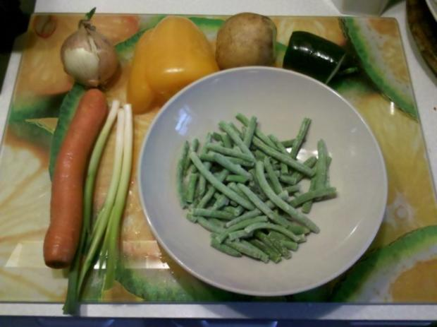 Vegetarisch: Gedämpftes Gemüse mit käsiger Tomatensoße - Rezept - Bild Nr. 2