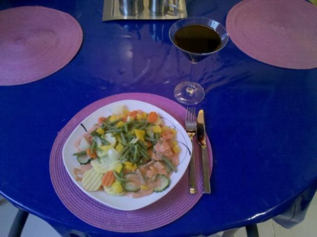 Vegetarisch: Gedämpftes Gemüse mit käsiger Tomatensoße - Rezept - Bild Nr. 8