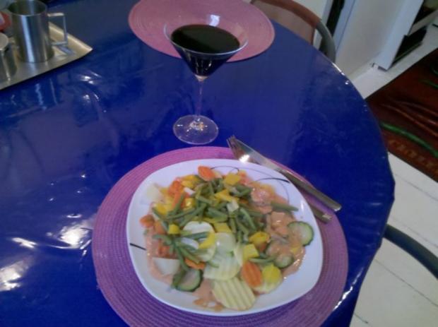 Vegetarisch: Gedämpftes Gemüse mit käsiger Tomatensoße - Rezept - Bild Nr. 10