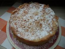 Eierlikör-Apfelkuchen mit knuspriger Krokanthaube - Rezept
