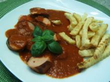 Currywurst mit selbstgemachter Soße - Rezept